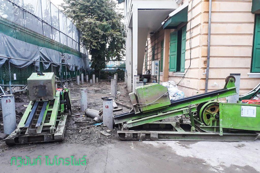 งานตอกเสาเข็มไมโครไพล์ ต่อเติมอาคารหน่วยงาน องค์การยูนิเซฟ ประเทศไทย