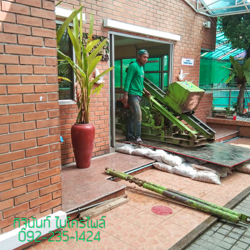 งานตอกเสาเข็มไมโครไพล์ ทำฐานรากงานก่อสร้าง ต่อเติมอาคารเรียน โรงเรียนโชคชัย
